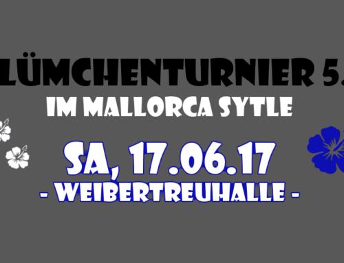 Blümchenturnier 5.0 im Mallorca Style – jetzt anmelden!