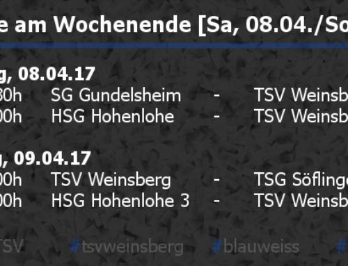 Die Ergebnisse vom Wochenende [Sa, 08.04./So, 09.04.]