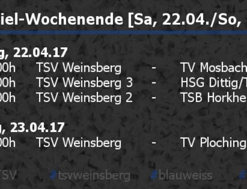 Heimspiel-Wochenende [Sa, 22.04./So, 23.04.]