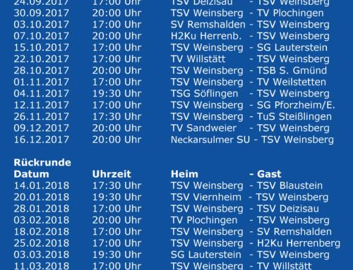 Spielplan BWOL 2017/2018