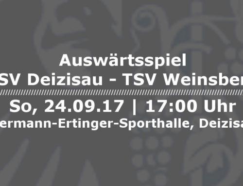 TSV Deizisau – TSV Weinsberg [So, 24.09.17 – 17.00 Uhr]